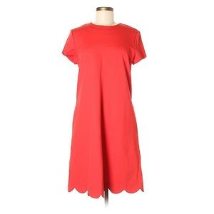Sara Campbell short sleeve red dress M-L